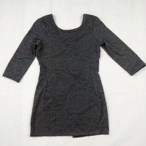 ANTHRO Silence+Noise Gray Textured Dress Large